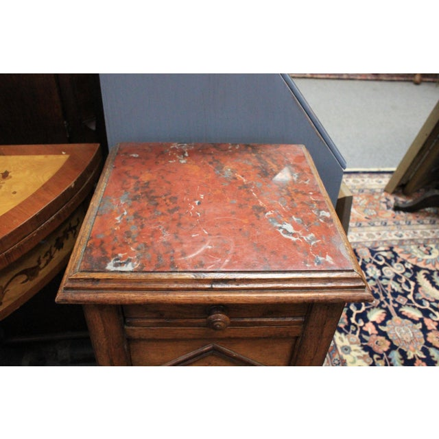 20th Century Art Deco Red Onyx Top Side Table For Sale - Image 4 of 6