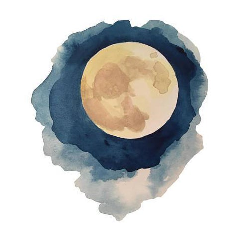This Phases of the Moon Series was originally painted in watercolor on liquid media paper. After painting, Mary Elizabeth...