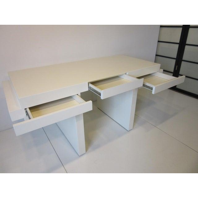 70's Cream Lacquer Sculptural Desk For Sale In Cincinnati - Image 6 of 12