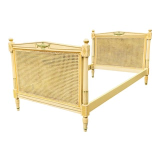 Antique French Cane Bed For Sale