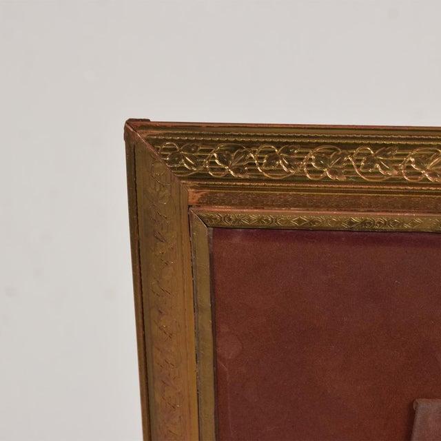 Art Deco Period Brass Picture Frame , Grapevine Ornamentation For Sale - Image 9 of 10