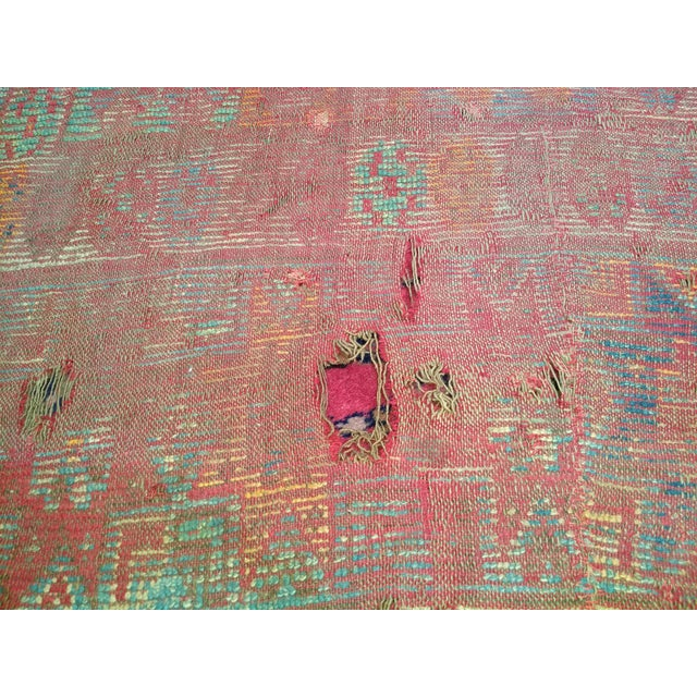 19th Century Moroccan Village Rug - 5′10″ × 14′5″ For Sale - Image 12 of 13