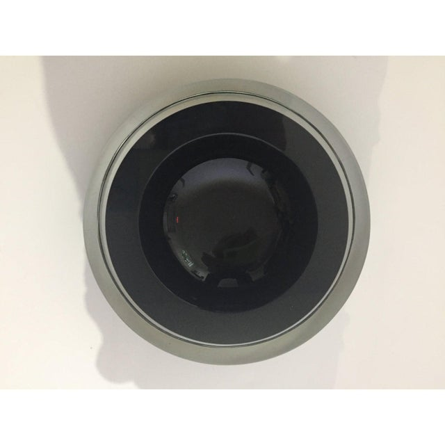 Murano Mid-Century Modern Archimede Seguso Murano Bowl Black Glass For Sale - Image 4 of 9