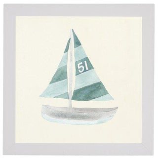 """Sailboat No. 51 - 27"""" X 27"""" For Sale"""