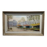 """Image of 1960's Vintage """"La Madeleine ,Paris"""" French Post Impressionist Oil Painting by Paul Lambert For Sale"""