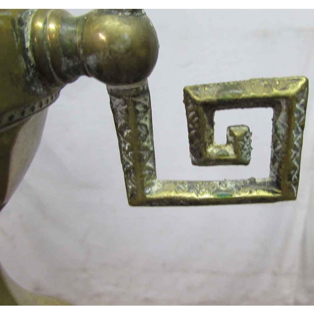 Turn of the Century Brass Standing Lamp For Sale - Image 5 of 9