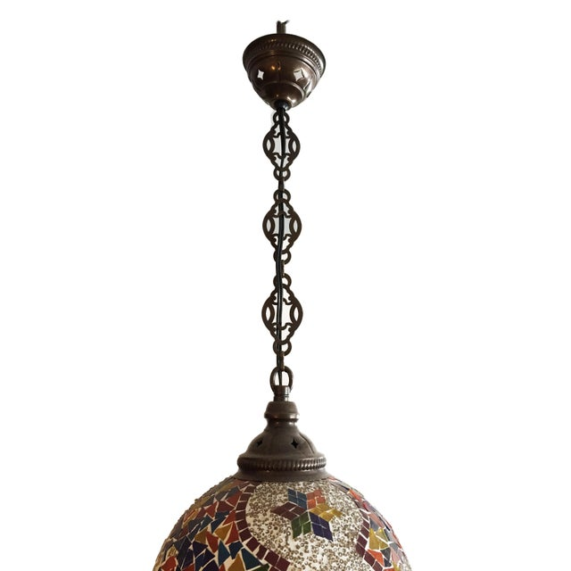 Superb Handmade Mosaic Turkish ceiling light lamp , Mosaic glass pieces & beads are glued 1 by 1 on naked globes. Lamp's...
