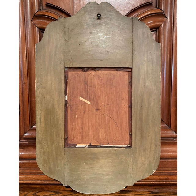 Metal Early 20th Century French Napoleon III Hand Painted Wall Mirror For Sale - Image 7 of 9