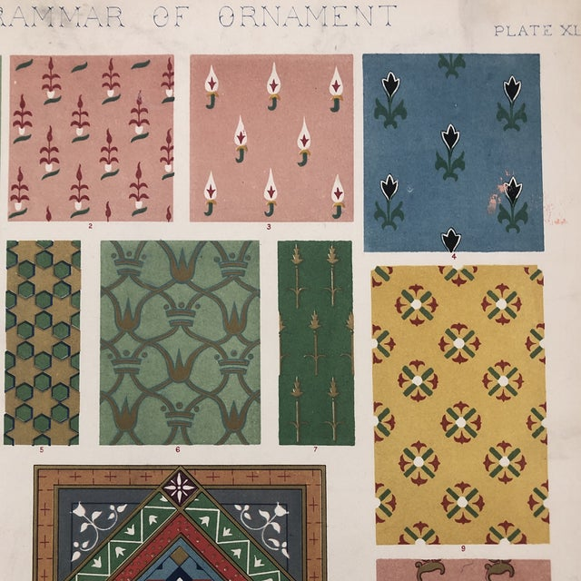 Persian Print From Grammar of Ornament For Sale - Image 9 of 12