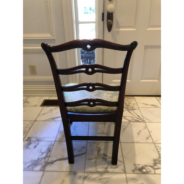 Chippendale Style Ribbon Back Dining Chairs - Set of 6 For Sale In Dallas - Image 6 of 11