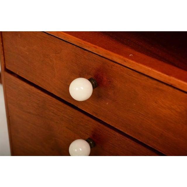 1950s Mid Century Modern Walnut Desk by Drexel Kipp Stewart For Sale - Image 5 of 9