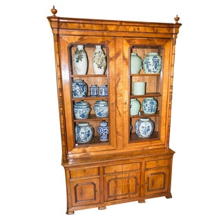 Antique French Cherry Bookcase/Cupboard For Sale