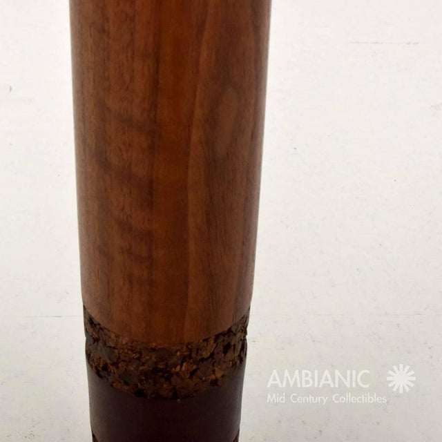 Danish Modern Danish Modern Teak & Cork Table Lamp For Sale - Image 3 of 5