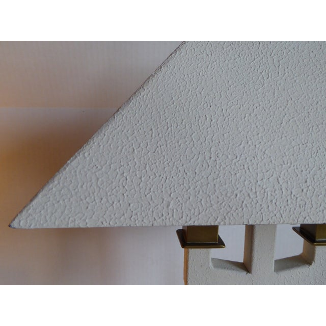 Hart Associates Postmodern Bouillotte Lamp With Painted Brass Metal Shade 1970s. For Sale In Miami - Image 6 of 11