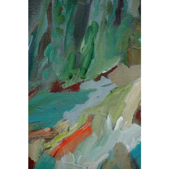"Original ""Beckoning"" Abstract Landscape Painting by Laurie MacMillan For Sale - Image 4 of 6"