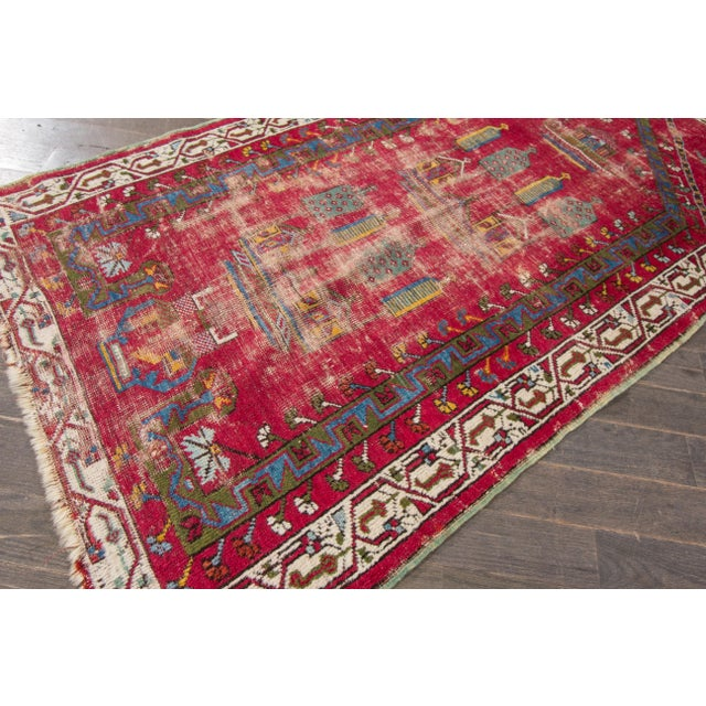 "Apadana Antique Turkish Geometric Rug - 3'1"" X 5'5"" - Image 3 of 7"