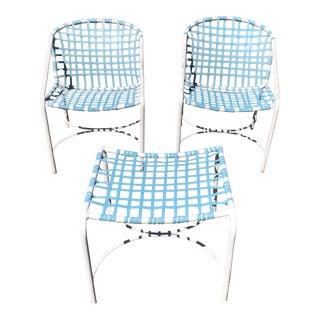 Tadao Inouye for Brown Jordan Chairs & Ottoman - Set of 3