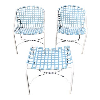 Tadao Inouye for Brown Jordan Chairs & Ottoman - Set of 4
