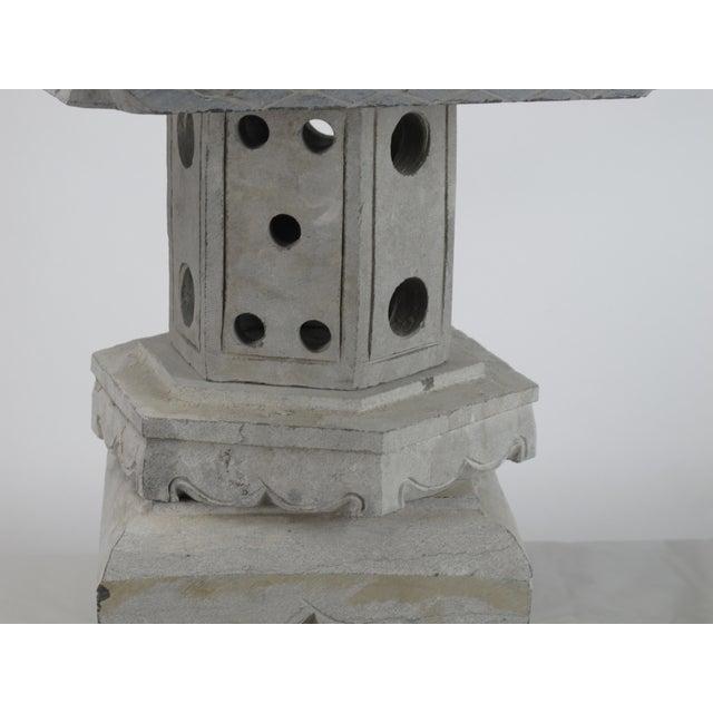2010s Asian Stone Garden Lantern For Sale - Image 5 of 7