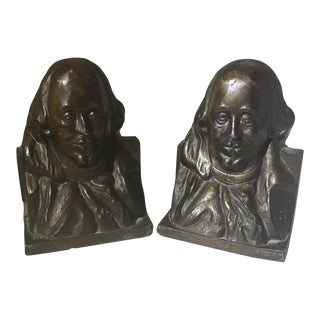 Benjamin Franklin Copper Signed Bookends - a Pair For Sale