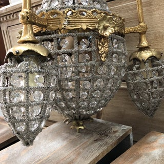 1970s French Empire Miniature Crystal Chandelier Preview