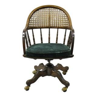 20th Century Drexel Champion International Windsor Rolling Swivel Office Desk Chair For Sale