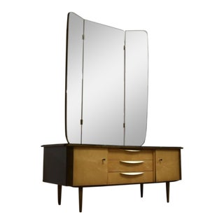 German Modern Maple Vanity & Mirror