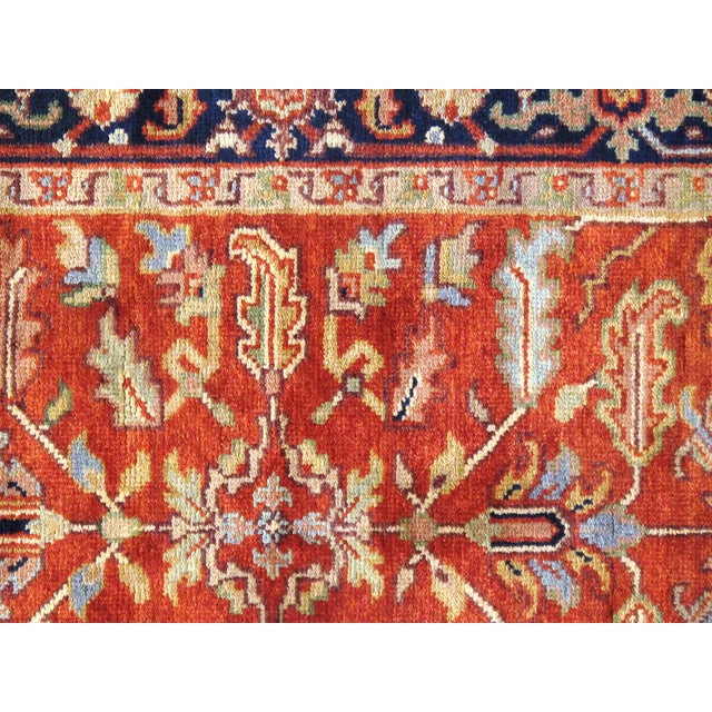 """Anglo-Indian Traditional Pasargad N Y Serapi Design Hand-Knotted Rug - 3'1"""" X 5' For Sale - Image 3 of 4"""