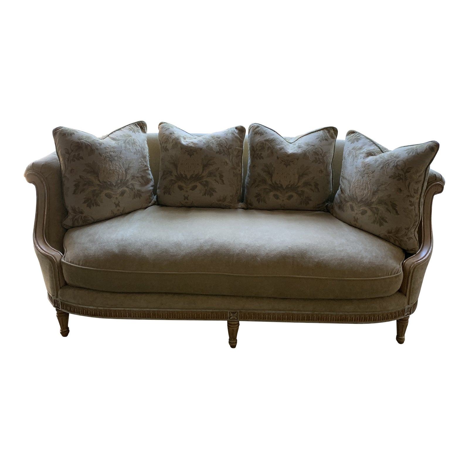 French Style Oversized Sofa | Chairish