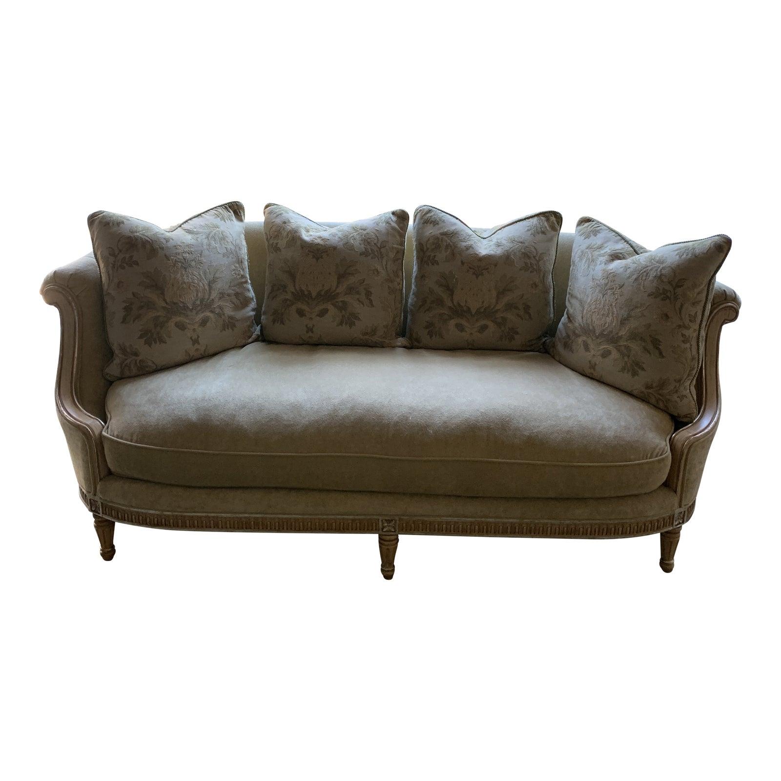 French Style Oversized Sofa | Chairish