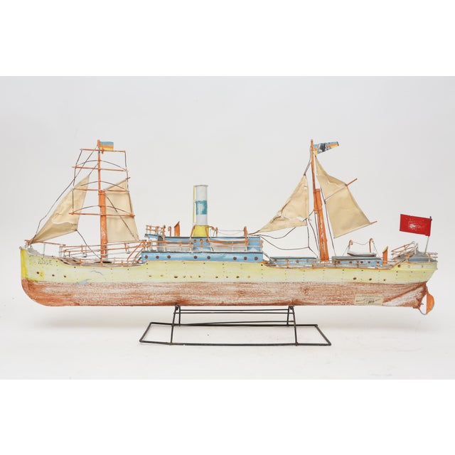 Large Model Boat Ship with Stand - Image 9 of 9