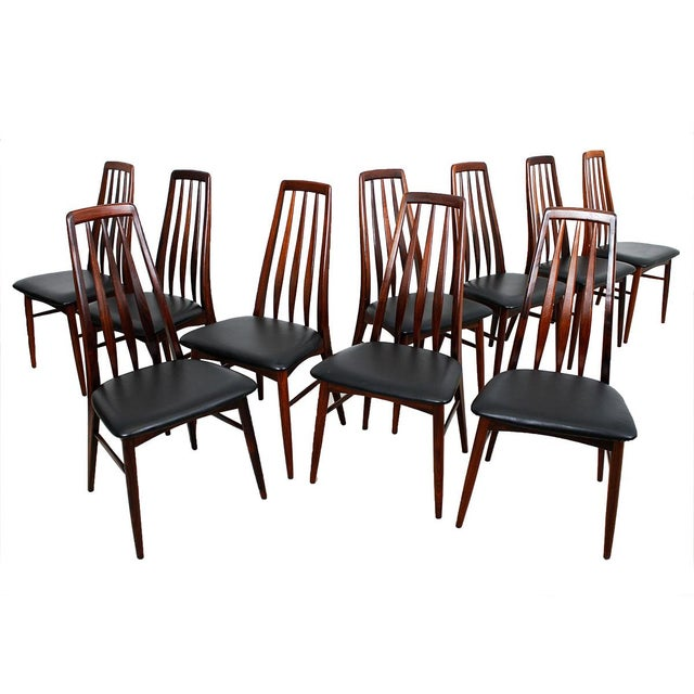 Koefoeds Hornslet Danish Rosewood Dining Chairs - Set of 10 For Sale