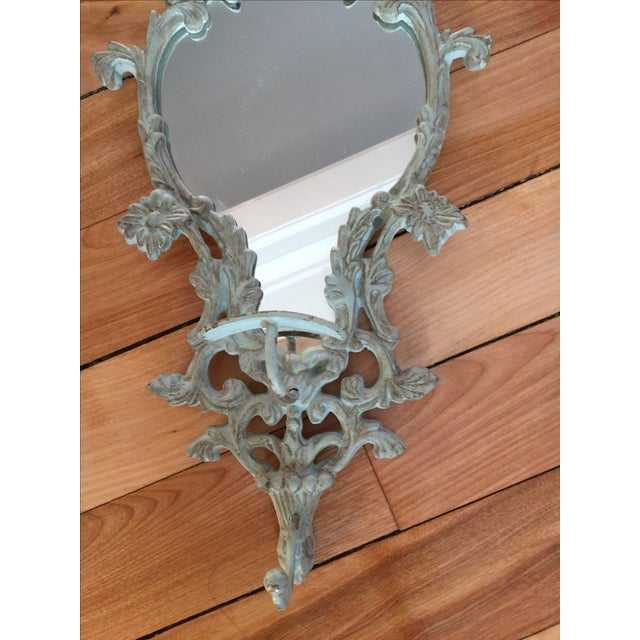 Vintage-Like Wall Mirror With Hat Hook - Image 3 of 6