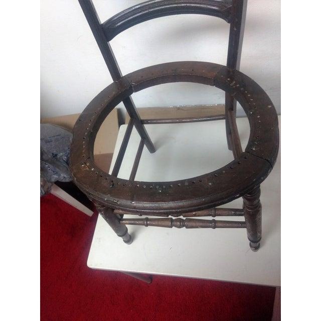Antique Walnut Ladder Back Chair - Image 4 of 5
