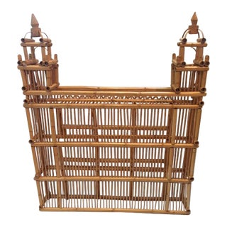Oversized Rattan & Bamboo Building With Towers For Sale