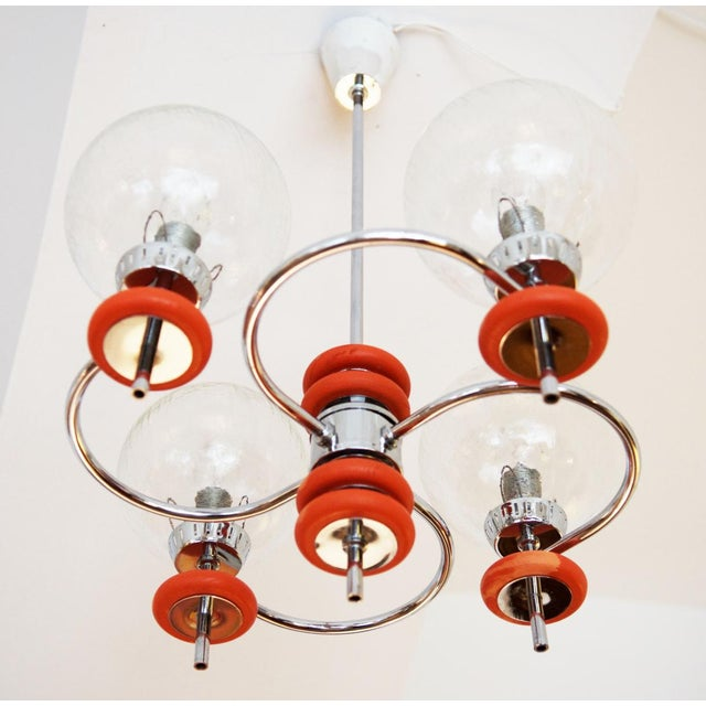 Austrian ceiling lamp, 1970s For Sale - Image 6 of 8