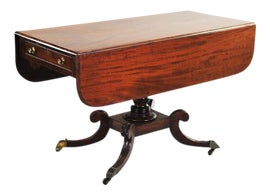 Image of Hollywood Regency Drop-Leaf and Pembroke Tables