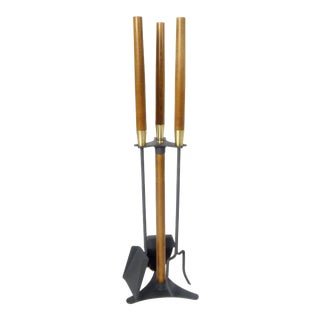 Fireplace Tool Set on Stand For Sale