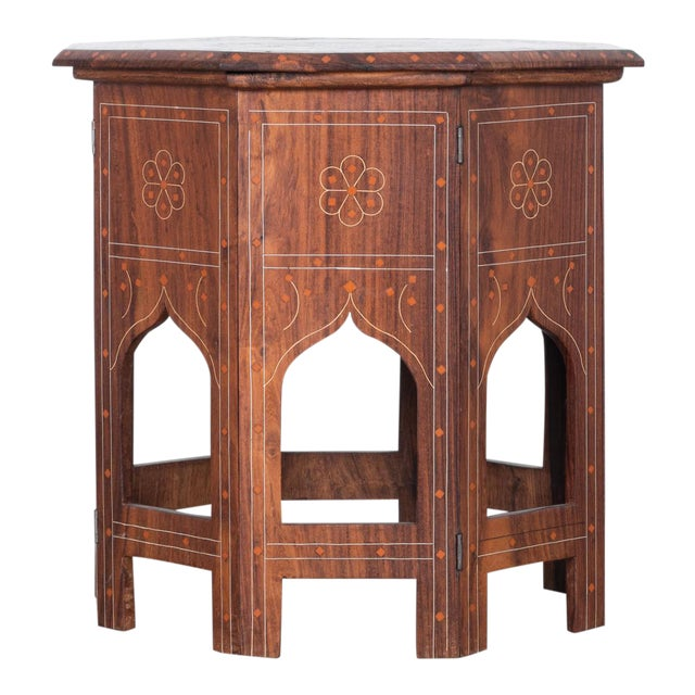 1930s Syrian Inlaid Octagonal Table For Sale