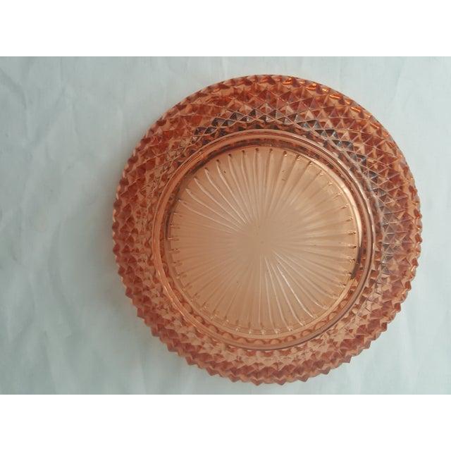 Cambridge Glass Company Cambridge Stratford Peach Blo Bowl For Sale - Image 4 of 5