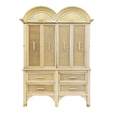 Image of Vintage Faux Bamboo Chippendale Style Hutch For Sale