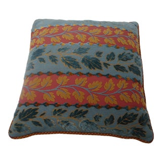 Contemporary Floral Embroidered Pillow For Sale