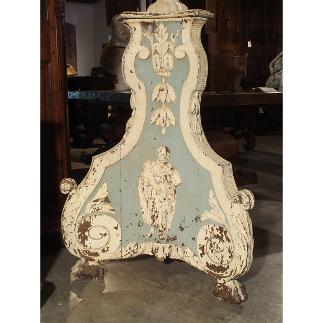 Large and Unique 18th Century Painted Wooden Jardiniere From Bruges For Sale - Image 9 of 13