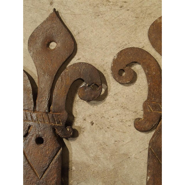 15th Century & Earlier Pair of 15th Century Iron Door Straps from France For Sale - Image 5 of 8
