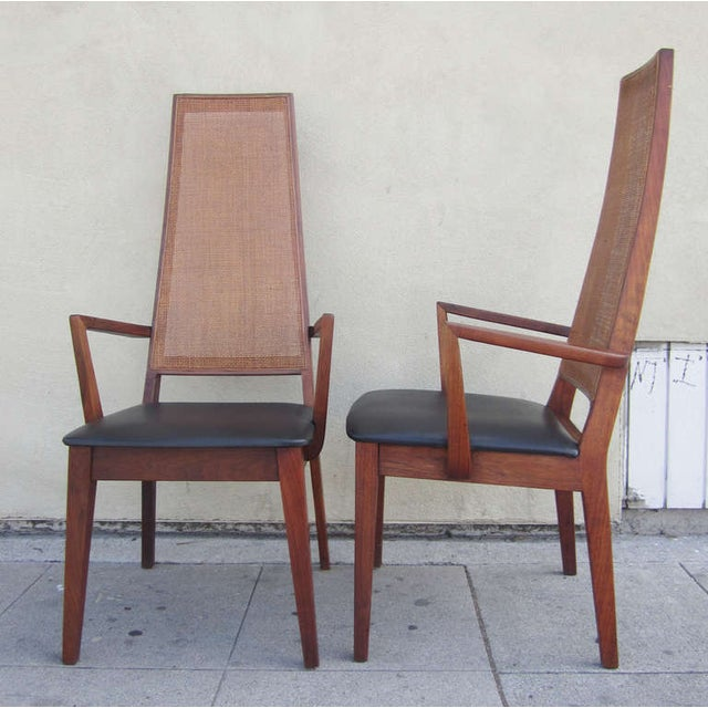 Mid-Century Cane-Back Armchairs by Tempo of Califo - Image 2 of 6