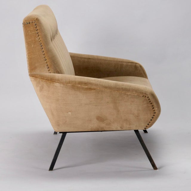 Marco Zanuso Mid-Century Italian Settee in the style of Marco Zanuso For Sale - Image 4 of 8