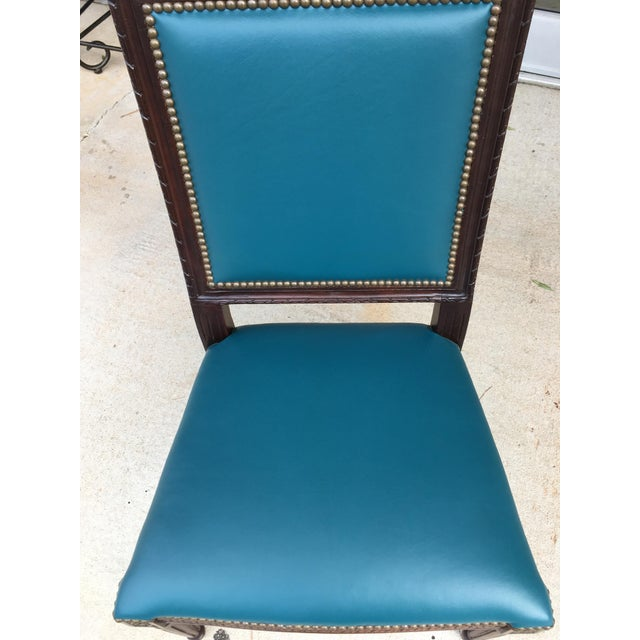 Massoud Regency Style Leather Accent Chair - Image 5 of 10