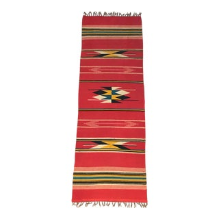 Early 20th Century Antique Southwestern Style Rug - 1′7″ × 4′8″ For Sale
