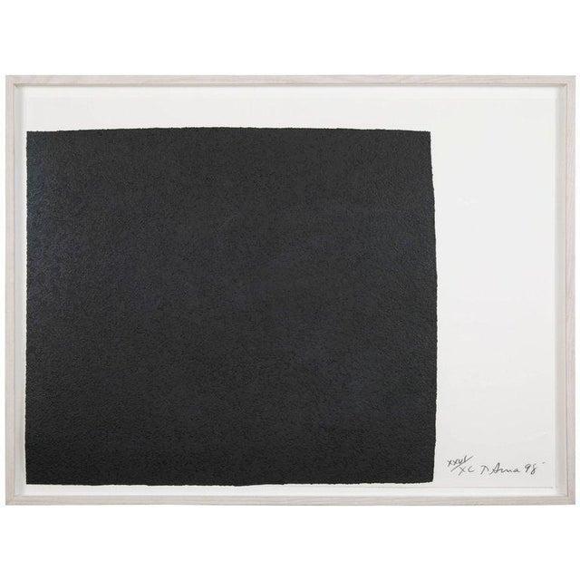 "Richard Serra Work on Paper ""Leo"", From ""Leo Castelli 90th Birthday Portfolio"" For Sale - Image 10 of 10"