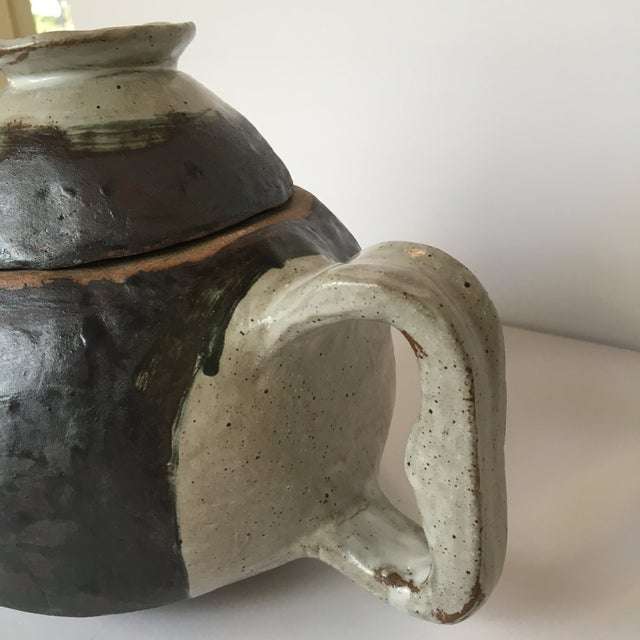 Large Primitive Handmade Tea Pot For Sale - Image 9 of 11
